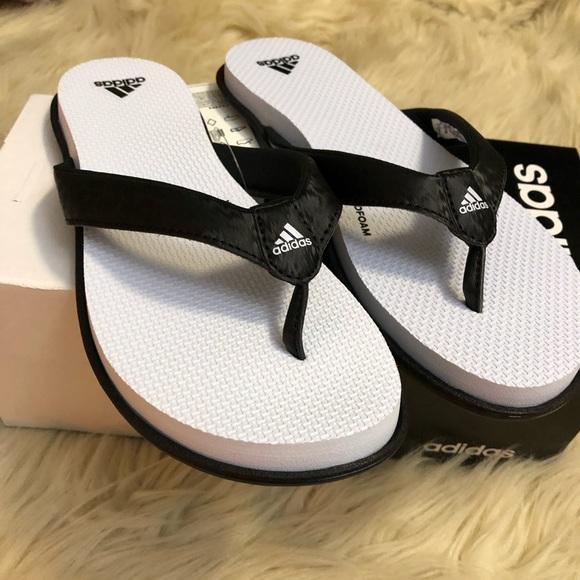 online retailer b4839 12b9c Adidas cloudfoam one Y flip flop